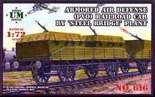 UM-MT Models 1/72 ARMORED TRAIN AIR DEFENSE RAILROAD CAR by Steel Bridge Plant