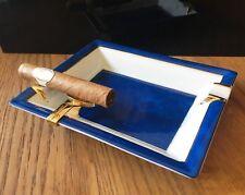 S.T.Dupont Zigarren Aschenbecher,Porcelaine Limoges,stilvolles Raucheraccessoire