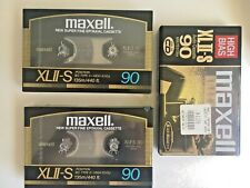 3 x MAXELL XL II-S 90 Blank CASSETTE TAPES NEW SEALED VINTAGE RETRO