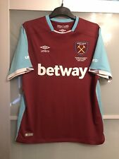 West Ham United home football 2016/17 Olympic Park shirt. Size Large