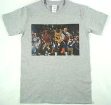 Michael Jordan Magic Johnson Camiseta Gris small-xxxl Bulls Lakers Nba Baloncesto