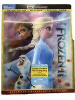 Disney Frozen II 2 (4K Ultra HD + Blu-ray + Digital) W/Lenticular Slipcover NEW!