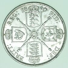 More details for 1890 victoria jubilee head florin, british silver coin ef