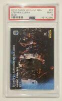 Stephen Curry 2016 Panini Instant Blue #2/25 Warriors NBA Record 3-Ptrs PSA