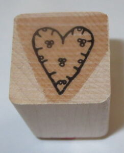 Heart Dots Berries Rubber Stamp Close To My Heart Love Wood Mounted Romance