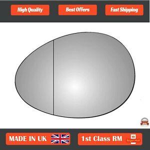 Left Side Stick On Wide Angle Wing Mirror Glass Mini Cooper 2006-2016 279LAS