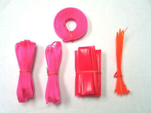 PC Computer Power Supply Cable Sleeving Kit UV Red (UV Pink) Ok Gear