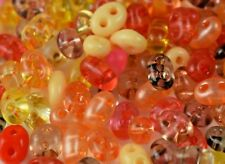 """Twin 2 Hole Czech Glass Seed Beads """" MIXTURE COLOR # 64 """" 50 Grams Loose"""