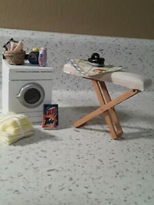 Miniature dollhouse Furniture And Accessories Lot/laundry Room furniture