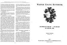 Warner Scarab Super Junior 50 Aero Engine Manual archive 1930's Period RARE