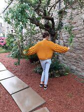 Chunky Oversize Knit golden brown cardigan Jumper Coat  Bespoke Handmade Designe