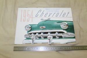 (MN1/F) Brochure Catalogue 1954 CHEVROLET