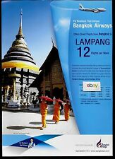 BANGKOK AIRWAYS AIRBUS A319 DIRECT FLIGHTS TO LAMPANG FROM BANGKOK 12 A WEEK AD