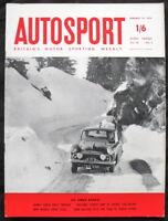 AUTOSPORT MAGAZINE 16 JAN 1959 - MONTE CARLO RALLY, TOUR DE FRANCE ALPINE TESTED