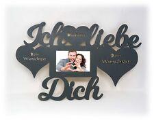 Ich liebe Dich Geschenke zur Hochzeit Verlobung Jahrestag Bilderrahmen mit Namen