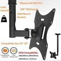 """Full Motion Flat TV Ceiling Wall Mount Tilt/Swivel For 23-42""""  Plasma LCD LED TV"""