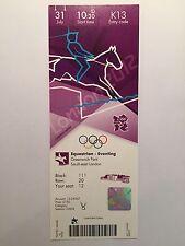 Billete de Londres 2012 Olímpico Ecuestre Concurso Completo 31 de Julio de 1030 K13 £ 150 * * como Nuevo