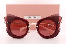 Brand New Miu Miu Sunglasses MU 02SS VA5 0A0 Dark Brown Pink/Pink  Women