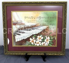 """How Great Art Thou"" by Lorraine Brewer Watercolor Print 27"" x 23"" Framed Matted"