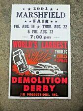 AUTOMOBILE INTERNATIONAL DEMOLITION DERBY ORIGINAL SIGN 1960s LARGE FULL COLOR