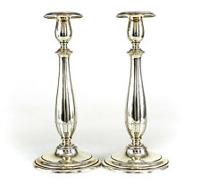 """Pair of Towle Sterling Silver Weighted Candlesticks, c1920; 10.25"""""""