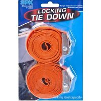 2 x 2.45 Metre Jaw Lock Heavy Duty Ratchet Tie Down Locking Set Secure Strapping