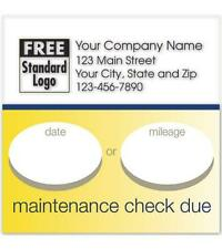 Static Cling Service Label W/Gold Bottom Border 2.5 x 2.5 Nebs/Deluxe No. 58165