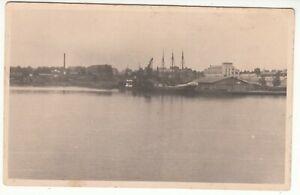 Latvia Real Photo PC Port Three-masted Sailing Ship in RIGA? LIEPAJA? c1925-30