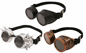 STEAMPUNK GOGGLES WELDING GOTHIC CYBER VINTAGE RETRO COSPLAY GLASSES FANCY DRESS