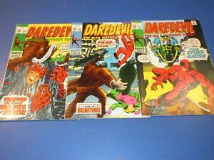 Daredevil #64,65,66 Bronze age lot of 3 VGF to Fine