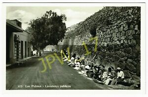 Vintage Photo Postcard LAS PALMAS, LAVADEROS PUBLICOS, Spain (RP) Public Laundry