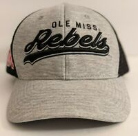 Ole Miss Rebels Hat Mesh Back Mississippi Trucker Cap Licensed NCAA Gray