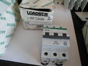 NEW CRABTREE LOADSTAR B20 20 AMP 6KA 6FT20B TRIPLE POLE MCB CIRCUIT BREAKER