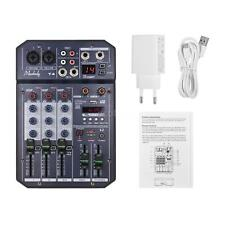 Muslady T4 Portable 4-Kanal Soundkarte Mischpult Audio Mixer Eingebauter 16 X2V4