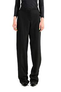 Viktor & Rolf Women's Black Silk Wool Dress Pants US L IT 44