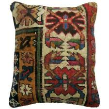 Pillow made from an antique Caucasian Shirvan rug with