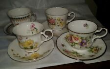 Vintage Bone China Tea Cup Saucer Lot 4 Sets England Duchess Royal Wessex Minste