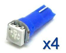 4x LED lampe T5 70 73 74 BLEU / BLUE Voiture/tuning Car Dashboard LIGHT BULB 12V