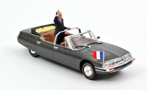 1/43 Norev Citroen SM Présidentielle 1981 + Figurine Mitterrand Livrais Domicile