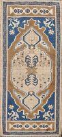 Vintage Muted Anatolian Turkish Distressed Handmade Oriental Area Rug 2x4 Carpet