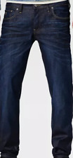 G-Star 3301 Low Tapered Dark Aged Jeans Men's UK Size 30W 34L *REF25-17*