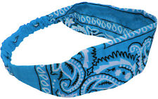 Bandana Headwrap Turquoise 100% Cotton Great for Yoga and Exercise
