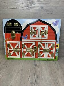 MELISSA AND DOUG LATCHES BARN WOODEN ACTIVITY BOARD  #8883