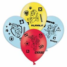 """6 x Paw Patrol 11"""" Assorted Colour Latex Balloons Birthday Party Decoration"""