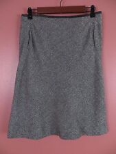 SK05955- BROOKS BROTHERS 346 Woman 62% Wool A-Line Skirt Gray Black Mix Pocket 6
