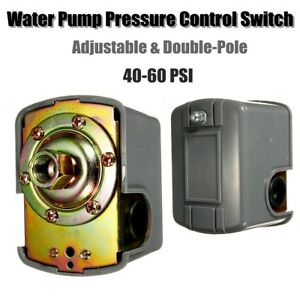"""1/4"""" NPT 40-60PSI Adjustable Pressure Control Switch Controler For Water Pump"""