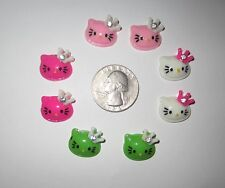 8 HELLO KITTY FLAT BACK RESINS CABOCHONS *SHIPS FREE* FOR HAIR BOWS
