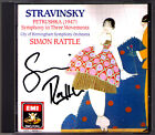 Simon RATTLE Signed STRAVINSKY Petrushka Symphony in Three Movements DONOHOE CD
