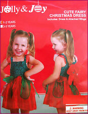 FAIRY XMAS DRESS Sz 1 - 2 yrs CUTE BABY GIRLS Costume / Christmas Outfit - NEW