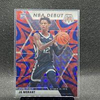 Ja Morant 2019-20 Panini Mosaic NBA Debut Blue Reactive Prizm Rookie Card #274🔥